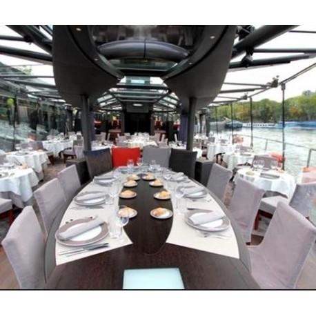 bateaux parisiens晚餐 全透明玻璃舱内雅座 特级套餐168欧/成人